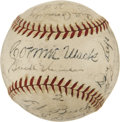 Autographs:Baseballs, 1945 Philadelphia Athletics Team Signed Baseball....