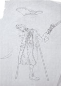 Music Memorabilia:Original Art, The Who - John Entwistle Pirate Sketches.... (Total: 2 Items)