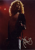Music Memorabilia:Autographs and Signed Items, Robert Plant Signed Photo....