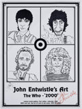 Music Memorabilia:Original Art, The Who - John Entwistle Preliminary Art and Signed Poster (artundated, poster 2000).... (Total: 8 Items)