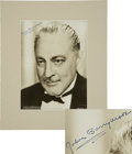 Movie/TV Memorabilia:Autographs and Signed Items, John Barrymore Signed Photo....