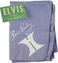 Music Memorabilia:Memorabilia, Elvis Presley Scarf with Backstage Pass.... (Total: 2 Items)