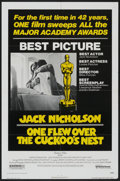 "Movie Posters:Academy Award Winner, One Flew Over the Cuckoo's Nest (United Artists, 1975). AcademyAward One Sheet (27"" X 41""). Drama/Academy Award Winner...."