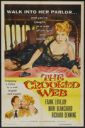 "Movie Posters:Crime, The Crooked Web (Columbia, 1955). One Sheet (27"" X 41""). Crime...."