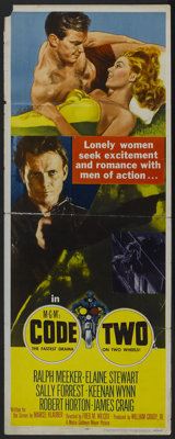 """Code Two (MGM, 1953). Insert (14"""" X 36""""). Crime"""