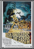"""Movie Posters:Fantasy, When Dinosaurs Ruled the Earth (Warner Brothers, 1970). International One Sheet (27.25"""" X 39""""). Fantasy...."""