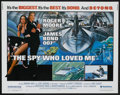 "Movie Posters:James Bond, The Spy Who Loved Me (United Artists, 1977). Half Sheet (22"" X 28""). James Bond...."