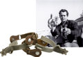 Movie/TV Memorabilia:Costumes, Glenn Ford's Screen-Worn Spurs from Cowboy.... (Total: 2Items)
