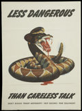 Memorabilia:Poster, World War II Government Poster (U.S. Government Printing Office,1944)....