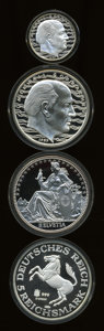 Lot of Four Superb Gem Proof Pure Silver Medals