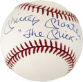 "Autographs:Baseballs, 1980's Mickey Mantle ""The Mick"" Single Signed Baseball...."