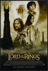 "The Lord of the Rings: The Two Towers (New Line, 2002). One Sheet (27"" X 40"") SS. Fantasy"