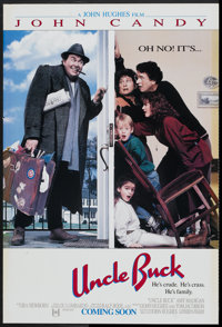 "Uncle Buck (Universal, 1989). One Sheet (27"" X 41"") DS Advance. Comedy"