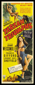 "Movie Posters:Adventure, Tarzan Triumphs (RKO, 1943). Insert (14"" X 36""). Adventure...."