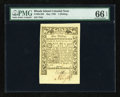 Colonial Notes:Rhode Island, Rhode Island May 1786 1s PMG Gem Uncirculated 66 EPQ....