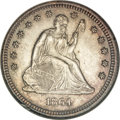 Seated Quarters, 1864 25C MS62 NGC....