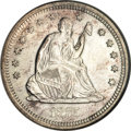 Seated Quarters, 1875-S 25C MS62 NGC....