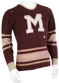 1934-35 Russ Blinco Montreal Maroons Game Worn Jersey