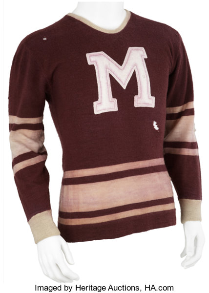 1934-35 Russ Blinco Montreal Maroons Game Worn Jersey.... Hockey ... 3d1c0a1fb