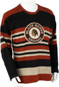 Hockey Collectibles:Uniforms, 1951-53 Sid Finney/Jim Peters Game Worn Jersey....