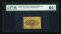 Fractional Currency:First Issue, Fr. 1230 5¢ First Issue PMG Choice Uncirculated 64 EPQ....