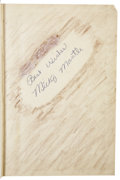 Autographs:Others, 1953 Mickey Mantle Signed Book....