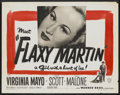 """Movie Posters:Crime, Flaxy Martin (Warner Brothers, 1949). Half Sheet (22"""" X 28"""").Crime...."""