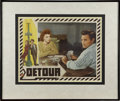 Movie/TV Memorabilia:Autographs and Signed Items, Ann Savage Signed Detour Lobby Card (1945)....