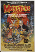 "Movie/TV Memorabilia:Autographs and Signed Items, Forrest Ackerman and Others Signed Famous Monsters Convention Poster, 24"" x 36""...."