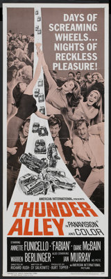 "Thunder Alley (American International, 1967). Insert (14"" X 36""). Action"