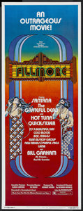 "Movie Posters:Rock and Roll, Fillmore (20th Century Fox, 1972). Insert (14"" X 36""). Rock andRoll...."