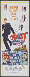 "Movie Posters:Rock and Roll, Twist Around the Clock (Columbia, 1961). Insert (14"" X 36""). Rockand Roll...."