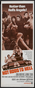 "Movie Posters:Cult Classic, Hot Rods to Hell (MGM, 1967). Insert (14"" X 36""). Cult Classic...."