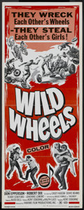 "Movie Posters:Action, Wild Wheels (Fanfare, 1969). Insert (14"" X 36""). Action...."