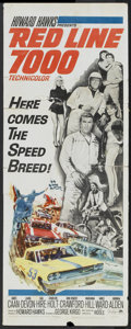 "Movie Posters:Sports, Red Line 7000 (Paramount, 1965). Insert (14"" X 36""). Sports...."
