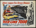 "Movie Posters:Sports, Red Line 7000 (Paramount, 1965). Half Sheet (22"" X 28""). Sports...."