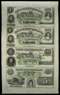 Obsoletes By State:Connecticut, East Haddam, CT- The Bank of New England at Goodspeed's Landing $1-$1-$2-$5 G16c-G16c-G18c-G22c Uncut Sheet. ...