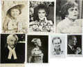Movie/TV Memorabilia:Autographs and Signed Items, Charlton Heston, Laurence Olivier, John Gielgud, and Others Signed Photos, Set of 7. ...