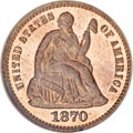 Patterns, 1870 H10C Half Dime, Judd-821, Pollock-911, High R.7, PR66 Red and Brown NGC....