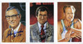Basketball Collectibles:Others, Basketball Hall Of Fame Signed Postcards Lot of 3....