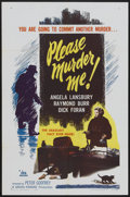 "Movie Posters:Crime, Please Murder Me (DCA, 1956). One Sheet (27"" X 41""). Crime...."
