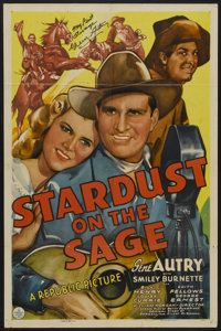 """Stardust on the Sage (Republic, 1942). Autographed One Sheet (27"""" X 41""""). Western"""