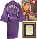 Movie/TV Memorabilia:Costumes, Golden Boy Costume Robe Given to Glenn Ford by WilliamHolden.... (Total: 2 Items)
