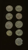 Ancients:Ancient Lots  , Ancients: Lot of nine mostly 4th century Roman Imperial AE.... (Total: 9 coins)