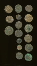 Ancients:Ancient Lots  , Ancients: Lot of sixteen late Roman Imperial AE.... (Total: 16coins)