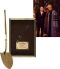 Movie/TV Memorabilia:Awards, Glenn Ford's Gold Shovel from Crystal Cathedral Groundbreaking.... (Total: 2 Items)