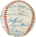 Autographs:Baseballs, 1958 Kansas City Athletics Team Signed Baseball with Maris....