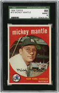 Baseball Cards:Singles (1950-1959), 1959 Topps Mickey Mantle #10 SGC 88 NM/MT 8....
