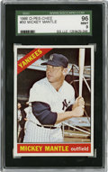 Baseball Cards:Singles (1960-1969), 1966 O-Pee-Chee #50 Mickey Mantle SGC 96 Mint 9. ...