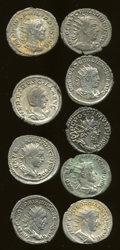 Ancients:Ancient Lots  , Ancients: Lot of nine Roman Imperial AR double denarii.... (Total: 9 coins)